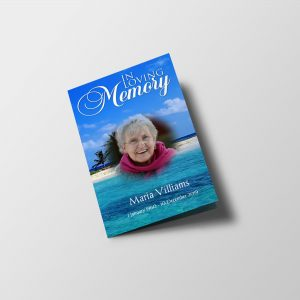 beach funeral program template