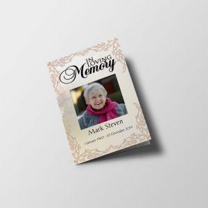 Elegant Frame Funeral Program Template front cover