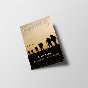 Army Special Funeral Program Template front cover